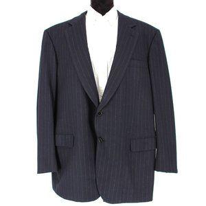 Brioni Mens Catone 2 Button Wool Suit Blazer 60 R